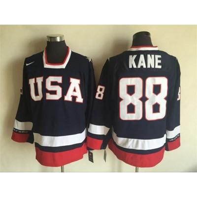 Hockey Team USA 88 Patrick Kane Navy Blue 2010 Nike Men Jersey