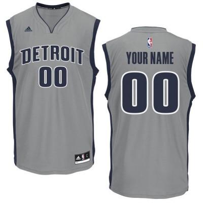 Adidas Detroit Pistons Grey Personalized NBA Customized Jersey