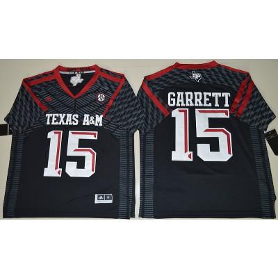 NCAA Texas A&M Aggies 15 Myles Garrett Black College Football Adidas Men Jersey