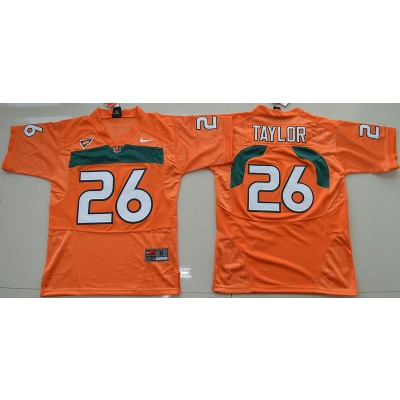 NCAA Miami Hurricanes 26 Sean Taylor Orange 2016-17 Youth Football Jersey