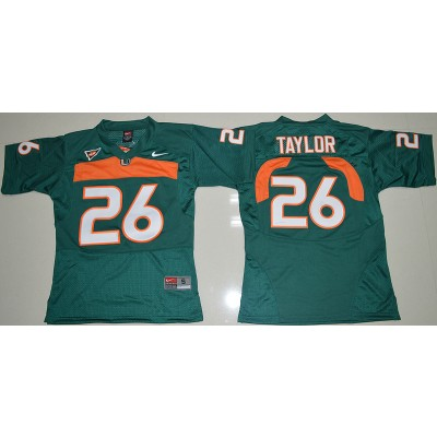 NCAA Miami Hurricanes 26 Sean Taylor Green 2016-17 Youth Football Jersey