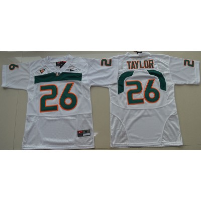 NCAA Miami Hurricanes 26 Sean Taylor White 2016-17 Youth Football Jersey