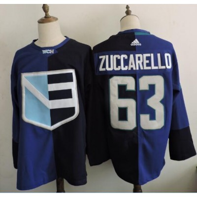 Hockey Team Europe 63 Mats Zuccarello 2016 World Cup of Blue Men Jersey