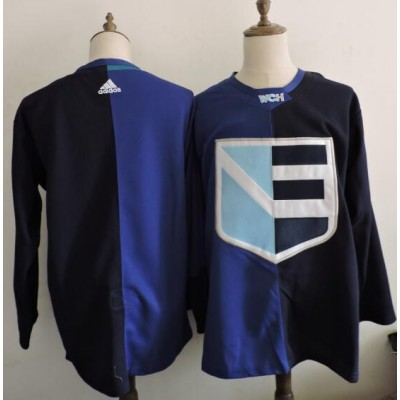 Hockey Team Europe Blank 2016 World Cup of Blue Men Jersey