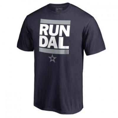 NFL Men Dallas Cowboys Pro Line Navy Run-Cty T-Shirt