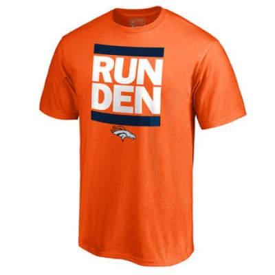 NFL Men Denver Broncos Pro Line Orange Run-Cty T-Shirt