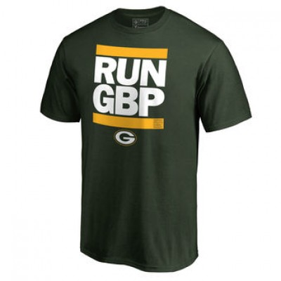 NFL Men Green Bay Packers Pro Line Green Run-Cty T-Shirt