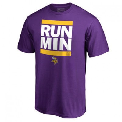 NFL Men Minnesota Vikings Pro Line Purple Run-Cty T-Shirt