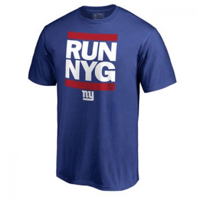 NFL Men New York Giants Pro Line Royal Run-Cty T-Shirt