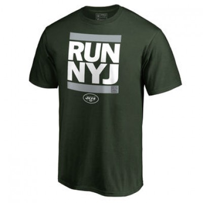 NFL Men New York Jets Pro Line Green Run-Cty T-Shirt