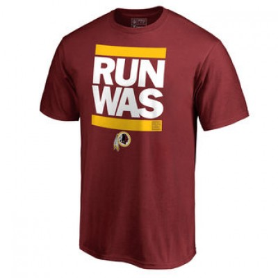 NFL Men Washington Redskins Pro Line Maroon Run-Cty T-Shirt