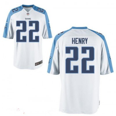 Nike Titans 22 Derrick Henry White Youth NFL Jersey