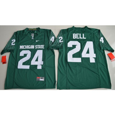 NCAA Michigan State SpartansMiami Hurricanes 24 Le'Veon Bell Green Football Limited Men Jersey