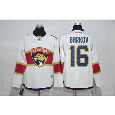 NHL Panthers 16 Aleksander Barkov White New Logo Men Jersey
