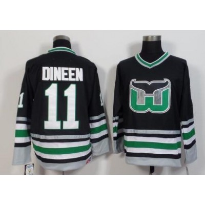 NHL Whalers 11 Kevin Dineen Black CCM Throwback Men Jersey
