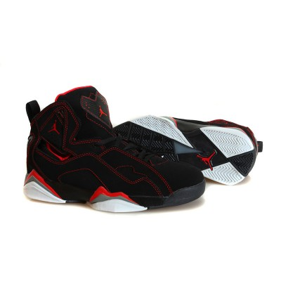 Air Jordan 7.5 Flight Red Lines Black Men Women Shoes