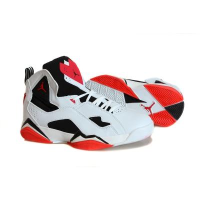 Air Jordan 7.5 Flight White Red Men Women Shoes