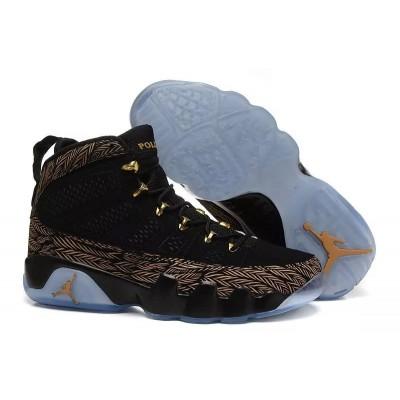 Air Jordan 9 DB Doernbecher Black Metallic Gold White Men Women Shoes