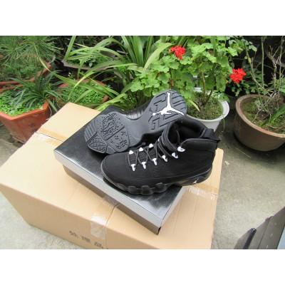 Air Jordan 9 White Logo Black Men Women Shoes