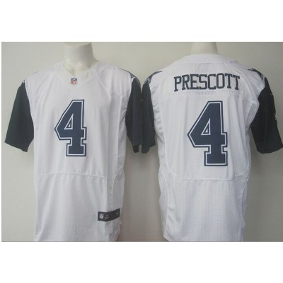 Nike Cowboys 4 Dak Prescott White Stitched Elite Color Rush Jersey