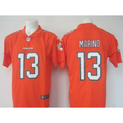 Nike NFL Dolphins 13 Dan Marino Orange Color Rush Limited Jersey