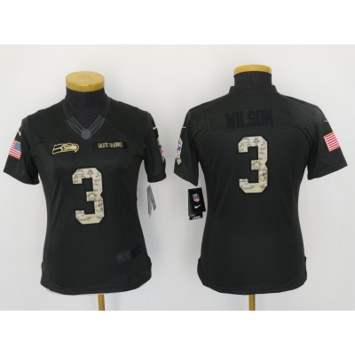 Nike NFL Buccaneers 3 Jameis Winston Anthracite 2016 Salute to Service Women Jersey
