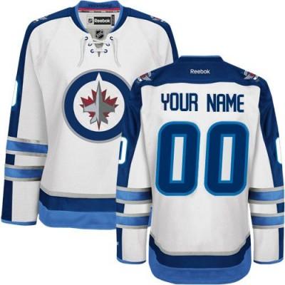NHL Winnipeg Jets Customized White Reebok Jersey