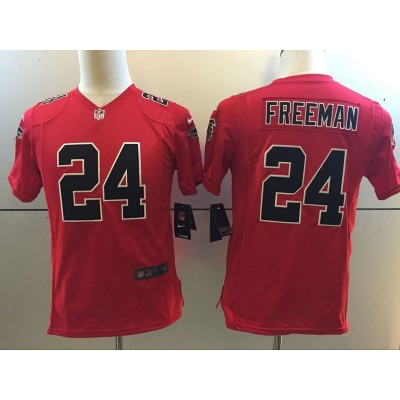 NFL Nike Falcons 24 Devonta Freeman Red Color Rush Youth Jersey