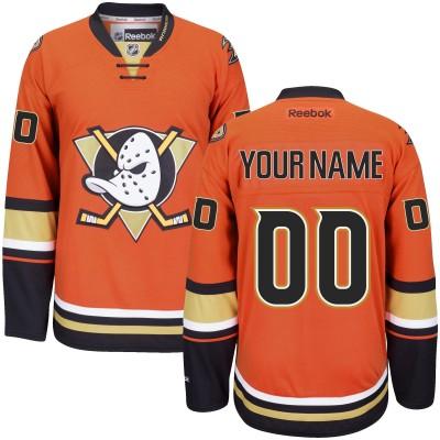 NHL Anaheim Ducks Orange Customized Men Jersey
