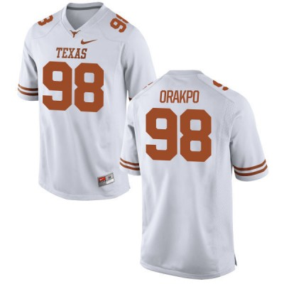 NCAA Texas Longhorns 98 Brian Orakpo White Nike Men Jersey