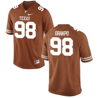 NCAA Texas Longhorns 98 Brian Orakpo Orange Nike Men Jersey
