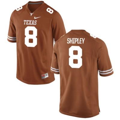 NCAA Texas Longhorns 8 Jordan Shipley Orange Nike Men Jersey