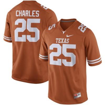 NCAA Texas Longhorns 25 Jamaal Charles Orange Nike Men Jersey