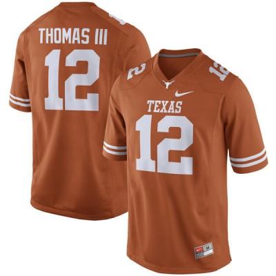 NCAA Texas Longhorns 12 Earl Thomas III Orange Nike Men Jersey