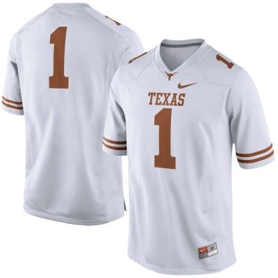 NCAA Texas Longhorns 1 White Nike Men Jersey