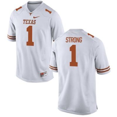 NCAA Texas Longhorns 1 Charlie Strong White Nike Men Jersey