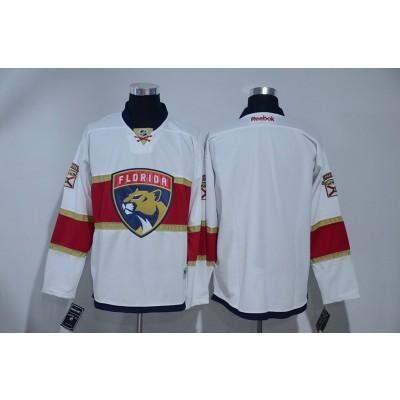 NHL Panthers Blank White Away Reebok Men Jersey