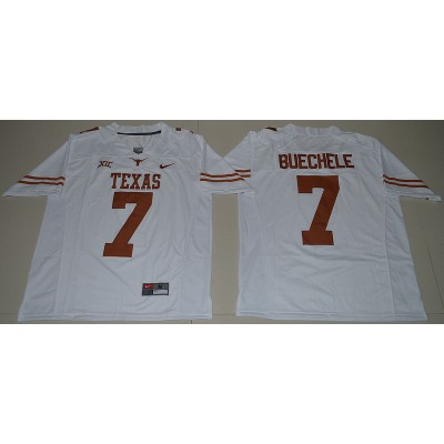 NCAA Texas Longhorns 7 Shane Buechele White Limited Men Jersey