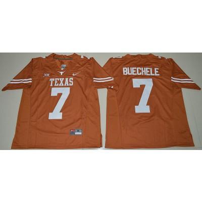 NCAA Texas Longhorns 7 Shane Buechele Orange Limited Men Jersey