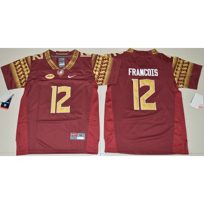 NCAA Florida State Seminoles 12 Deondre Francois Red Youth Jersey