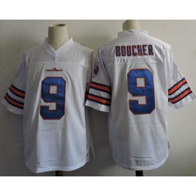 The Waterboy Adam Sandler 9 Bobby Boucher Football Movie White Jersey