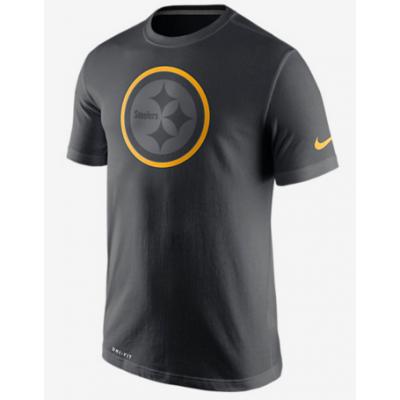 Nike Steelers Black Legend Logo Men's Short Sleeve T-Shirt