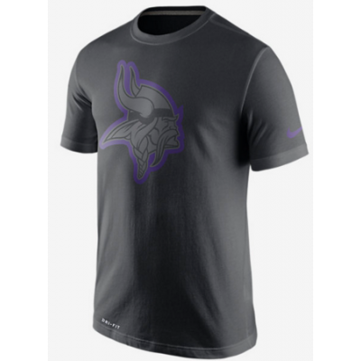 Nike Vikings Black Legend Logo Men's Short Sleeve T-Shirt