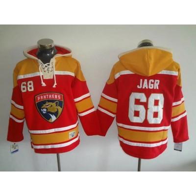 NHL Panthers 68 Jaromir Jagr Red Reebok Men Sweatshirt