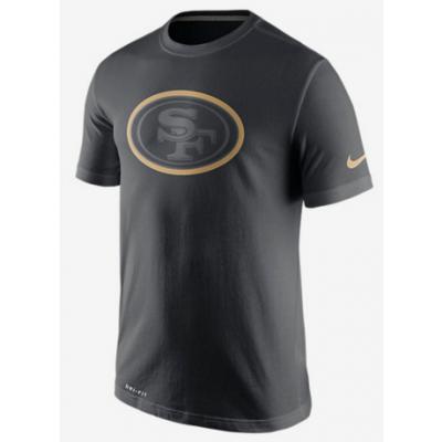 Nike 49ers Black Legend Logo Men's Short Sleeve T-Shirt