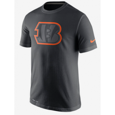 Nike Bengals Black Legend Logo Men's Short Sleeve T-Shirt