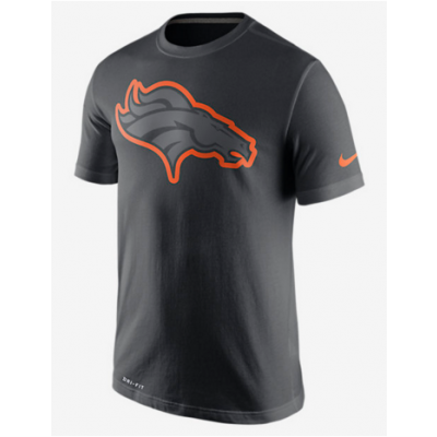 Nike Broncos Black Legend Logo Men's Short Sleeve T-Shirt