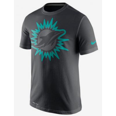 Nike Dolphins Black Legend Logo Men's Short Sleeve T-Shirt