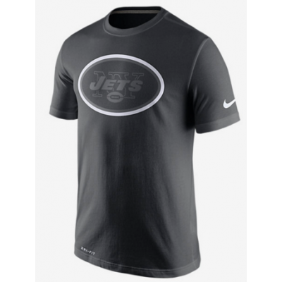 Nike Jets Black Legend Logo Men's Short Sleeve T-Shirt