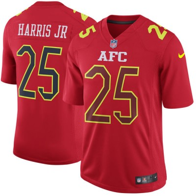 Nike NFL Broncos 25 Chris Harris Jr AFC Red 2017 Pro Bowl Game Jersey